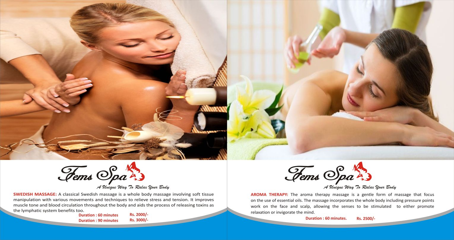 Swedish Massage and Aroma Therapy in Kotla Defence Colony South Extension Delhi NCR - Fems Spa - Spas and Salons India